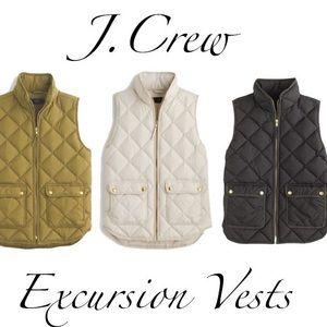J.Crew Cream Excursion Quilted Down Vest size XS